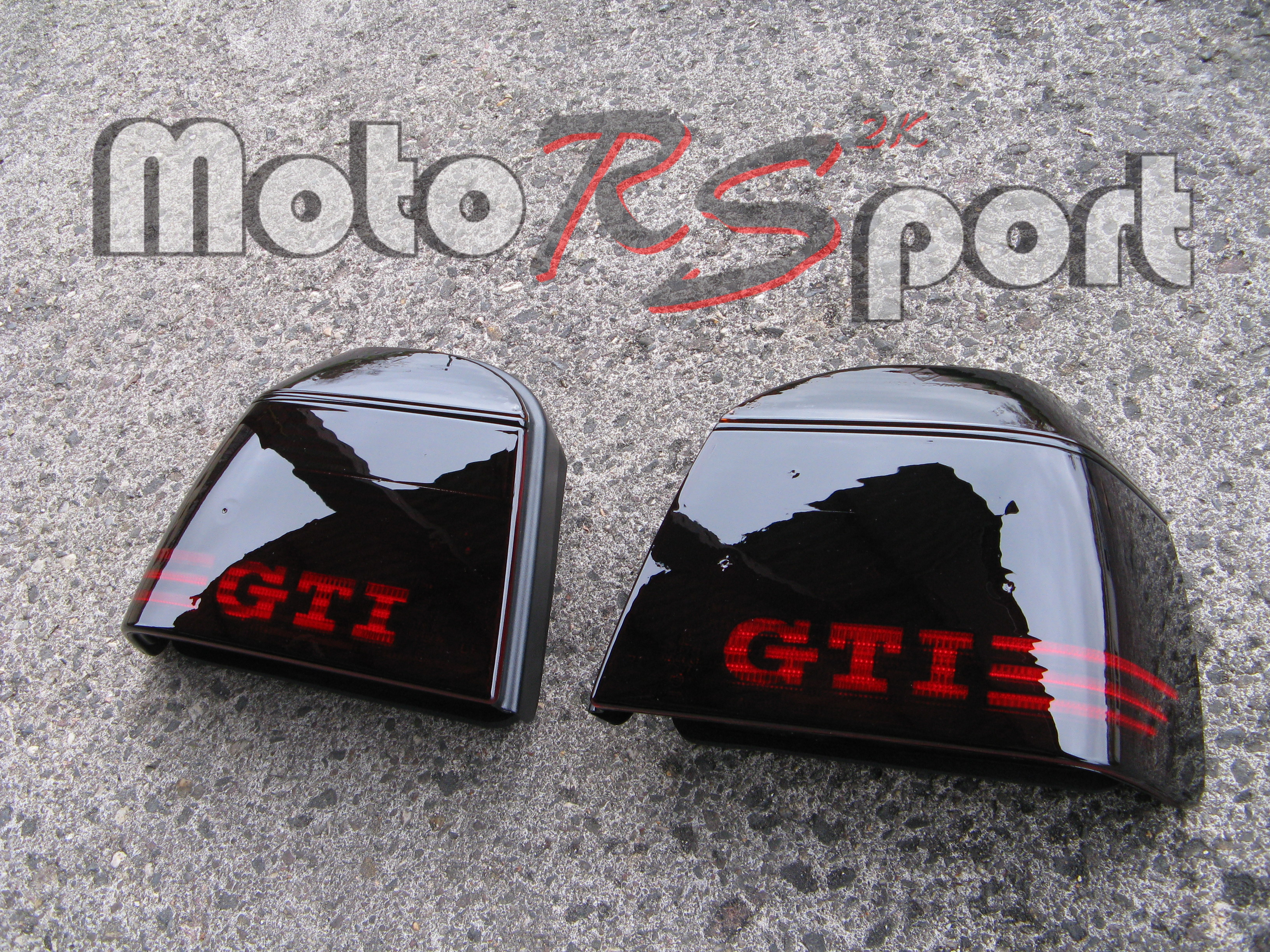 golf 3 iii noir feux arri res gti logo ebay. Black Bedroom Furniture Sets. Home Design Ideas
